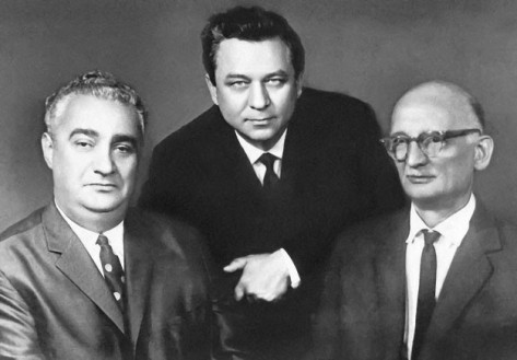 Famed KGB illegals Ashot Akopyan, Konon Molody, and Rudolf Abel (William Fisher).